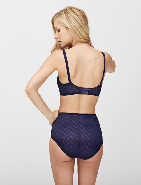 Vega high waist and demi bra in nightshade