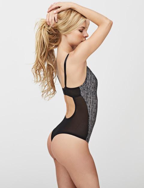 willow thong bodysuit black